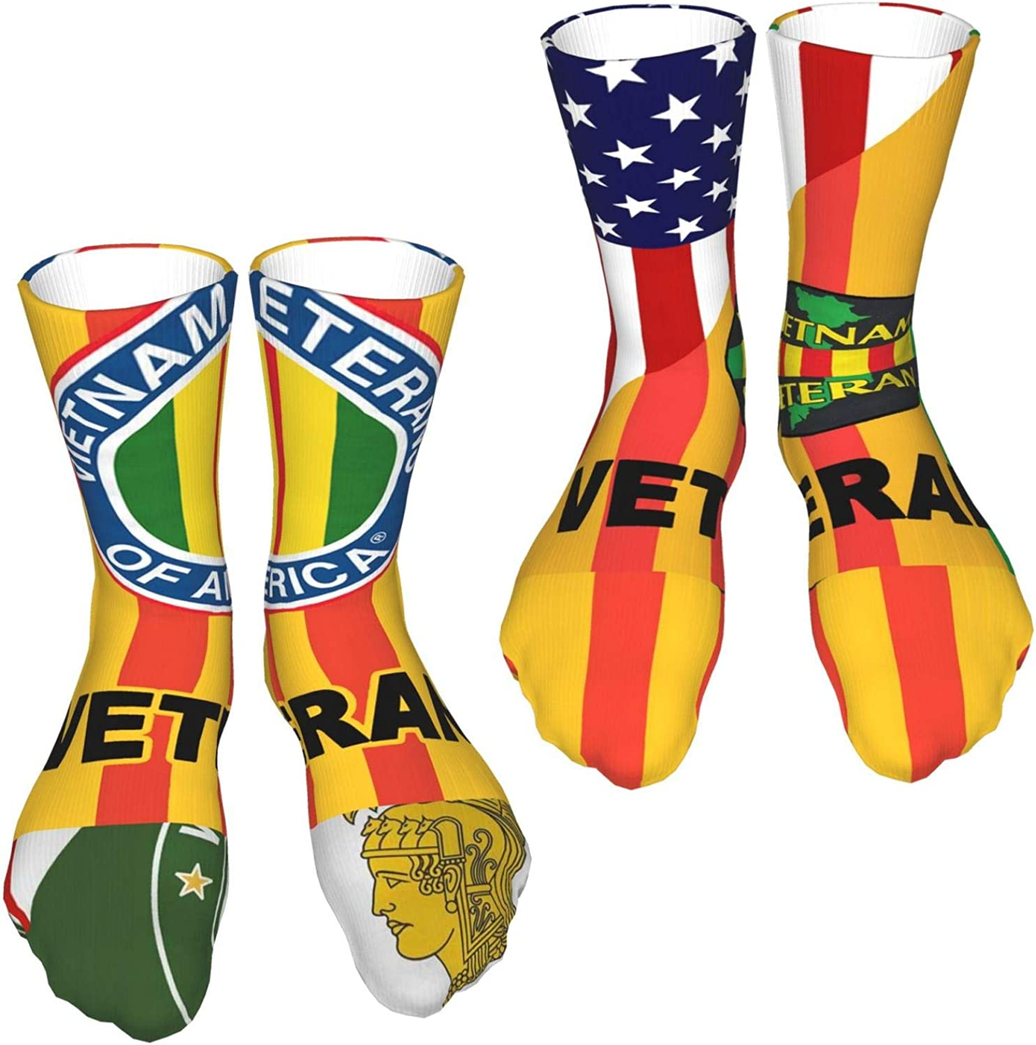 Two Pairs Of Unisex Casual Breathable Sports Socks Suitable For All Seasons Vietnam Veteran C