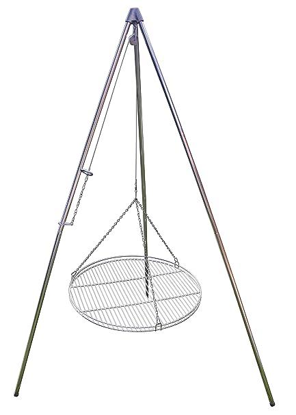 Dreibein-Schwenkgrill inkl 70 cm Edelstahl-Grillrost