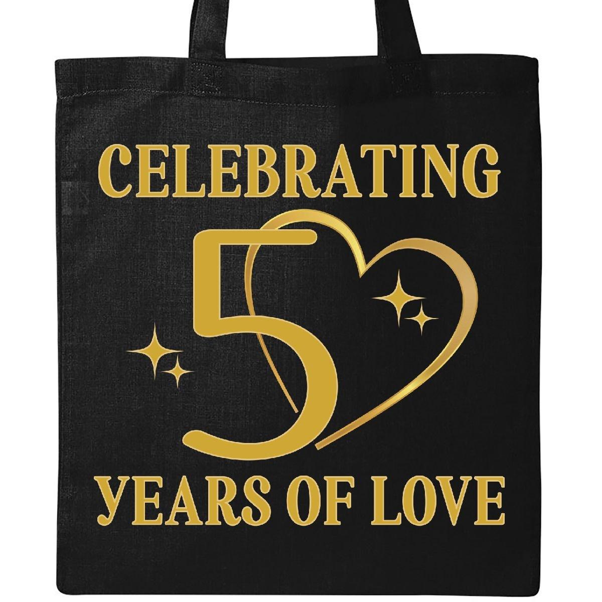 Inktastic - 50th Wedding Anniversary Gift 50 Years Tote Bag Black 2d466