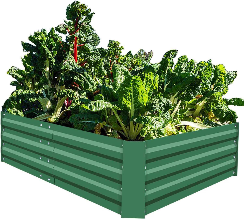 Amazon Com Foyuee Metal Raised Garden Beds For Vegetables Large