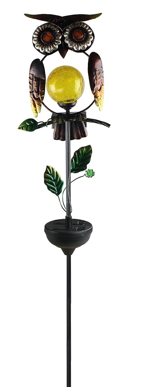 Moonrays 92213 Solar Powered White LED Owl Stake Light