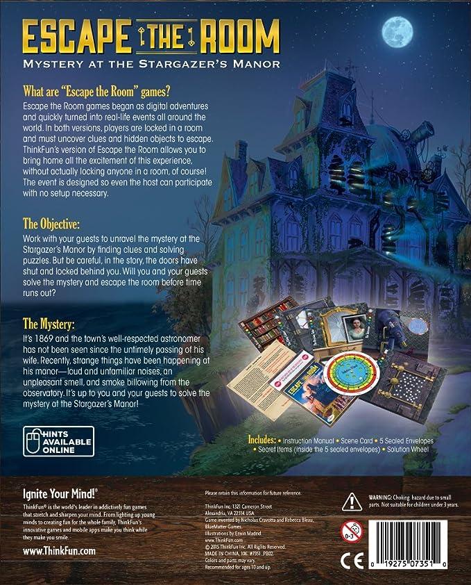 Think Fun - Escape The Room: Misterio en la mansión del observatorio (TF7351) (versión en inglés)