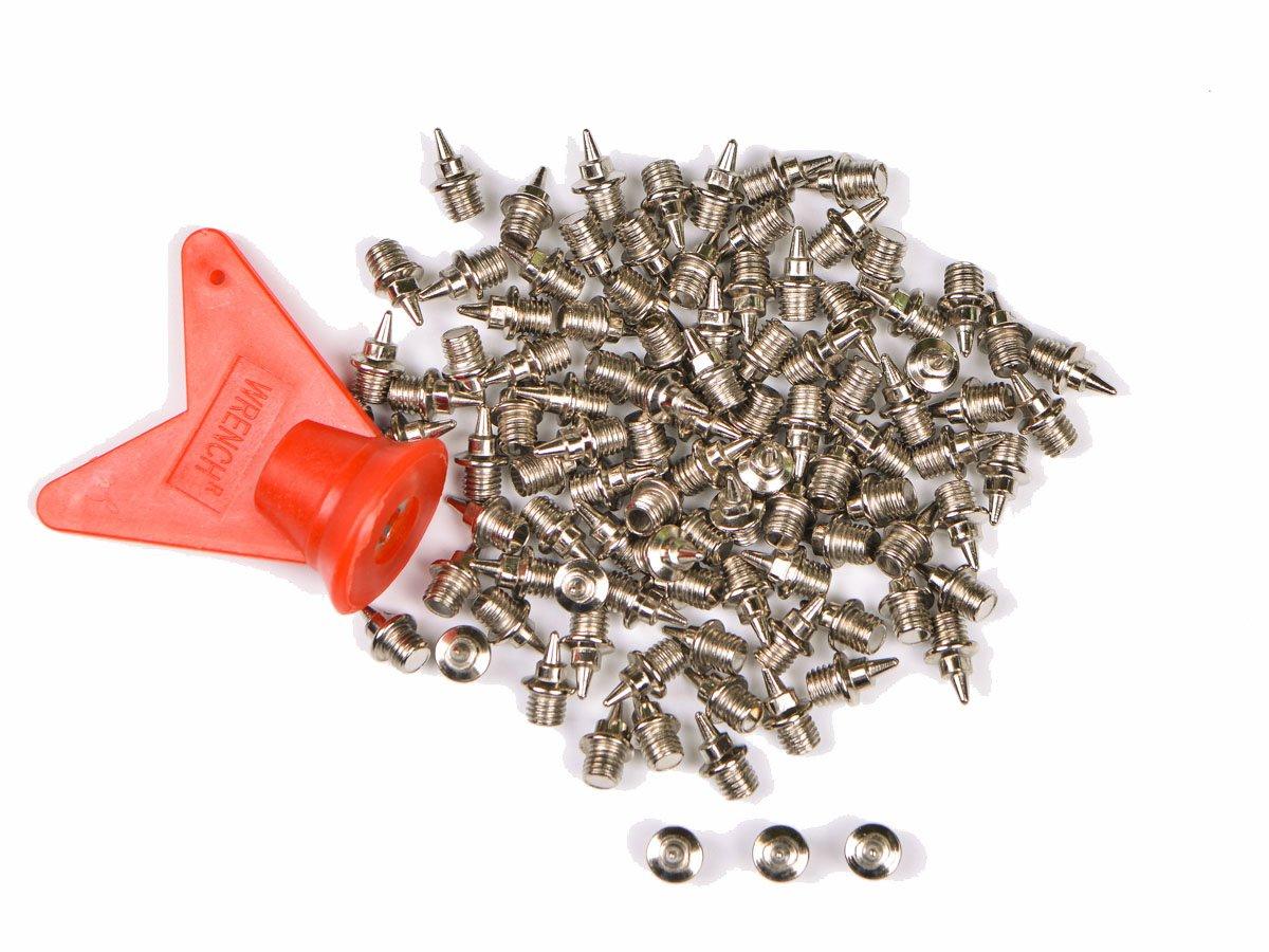 NOVSIX 100 piezas 6mm Clavos de Repuesto para Zapatillas de Clavos, Track Spike Pin para el atletismo, Llave Inglesa Contenida