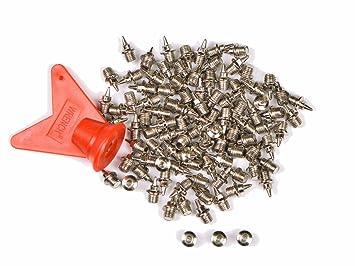 a375787ad7b45 NOVSIX 100 Piezas 6mm Clavos de Repuesto para Zapatillas de Clavos ...