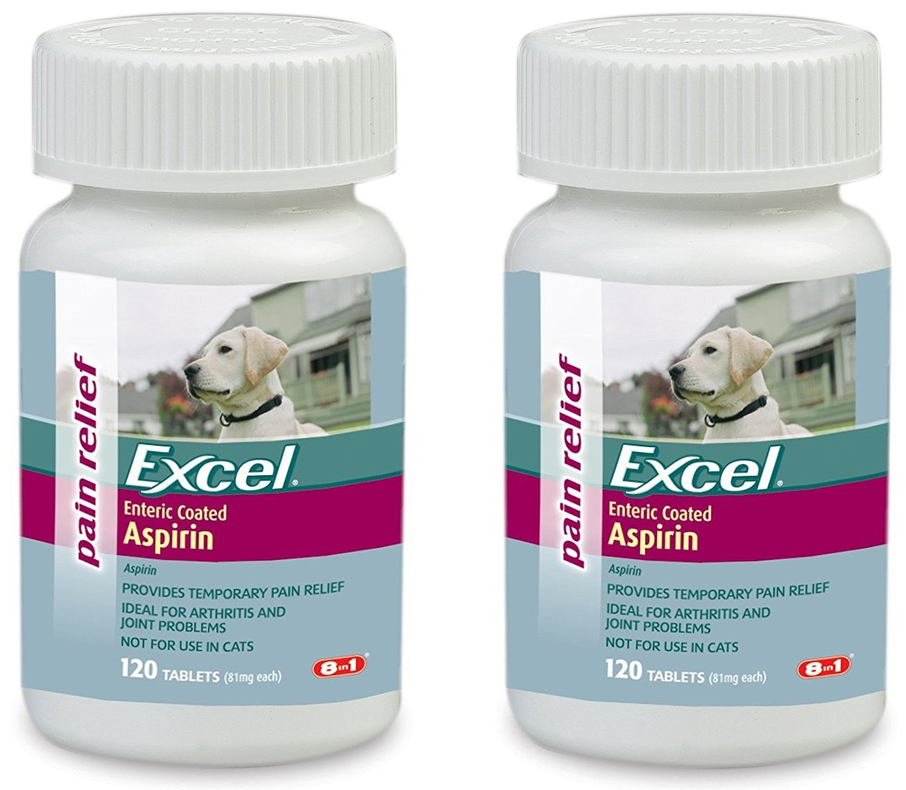 Color coating excel - Amazon Com Excel Aspirin For Dogs 81mg 120 Count Bottle Pet Bone And Joint Supplements Pet Supplies