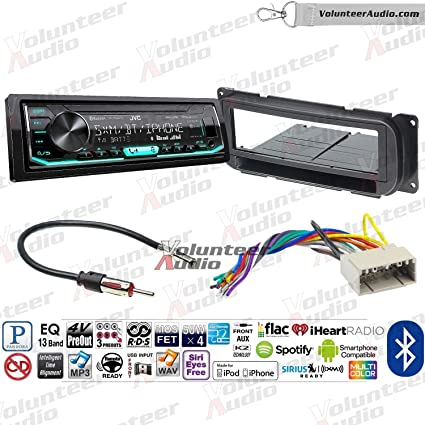 NEW JVC CAR STEREO RADIO W// BLUETOOTH /& SIRIUS XM /& AUX//USB W// INSTALLATION KIT