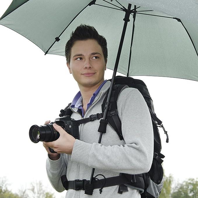 Walimex Pro Swing Handsfree Regenschirm Mit Tragegestell Oliv