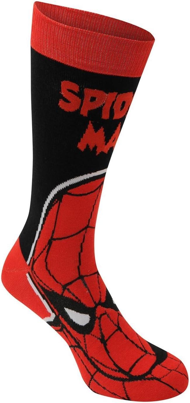 Personaggio calzino Marvel Comics Crew Calze da Uomo Colore: Nero Confezione da 3