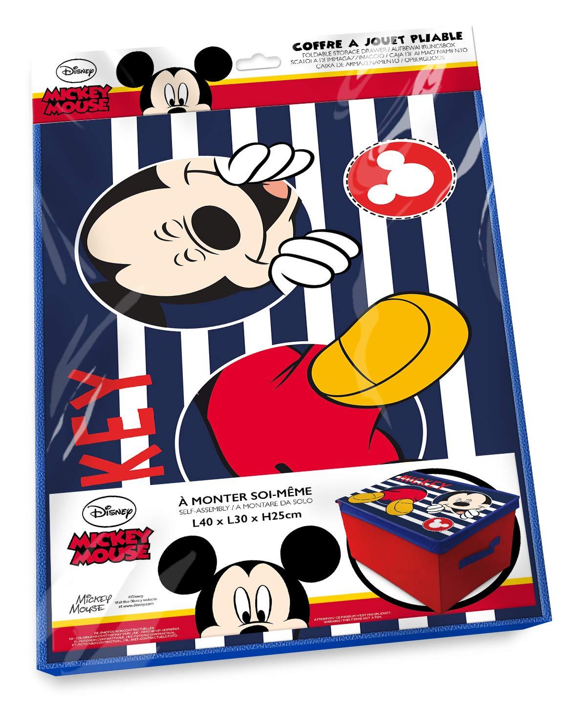 Mickey Mouse Disney Aufbewahrungshocker Ordnungsbox mit Deckel