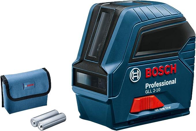 Bosch Professional 0601063L00 Nivel GLL 2-10, láser Rojo, Interior ...