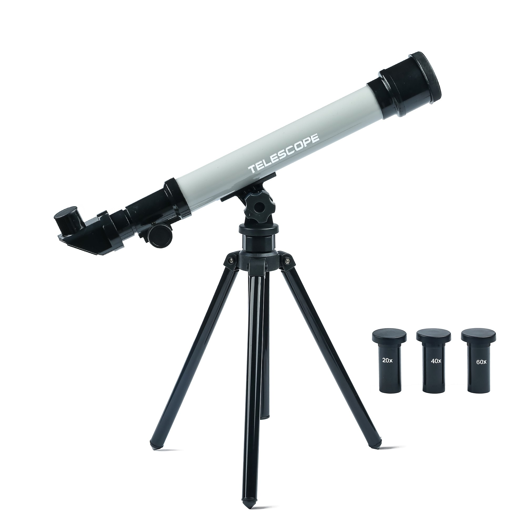 Youtop Educational Astronomical Telescope Toy Adjustable 20/40/60X Toddlers Starter Kit w/ Tripod Gray