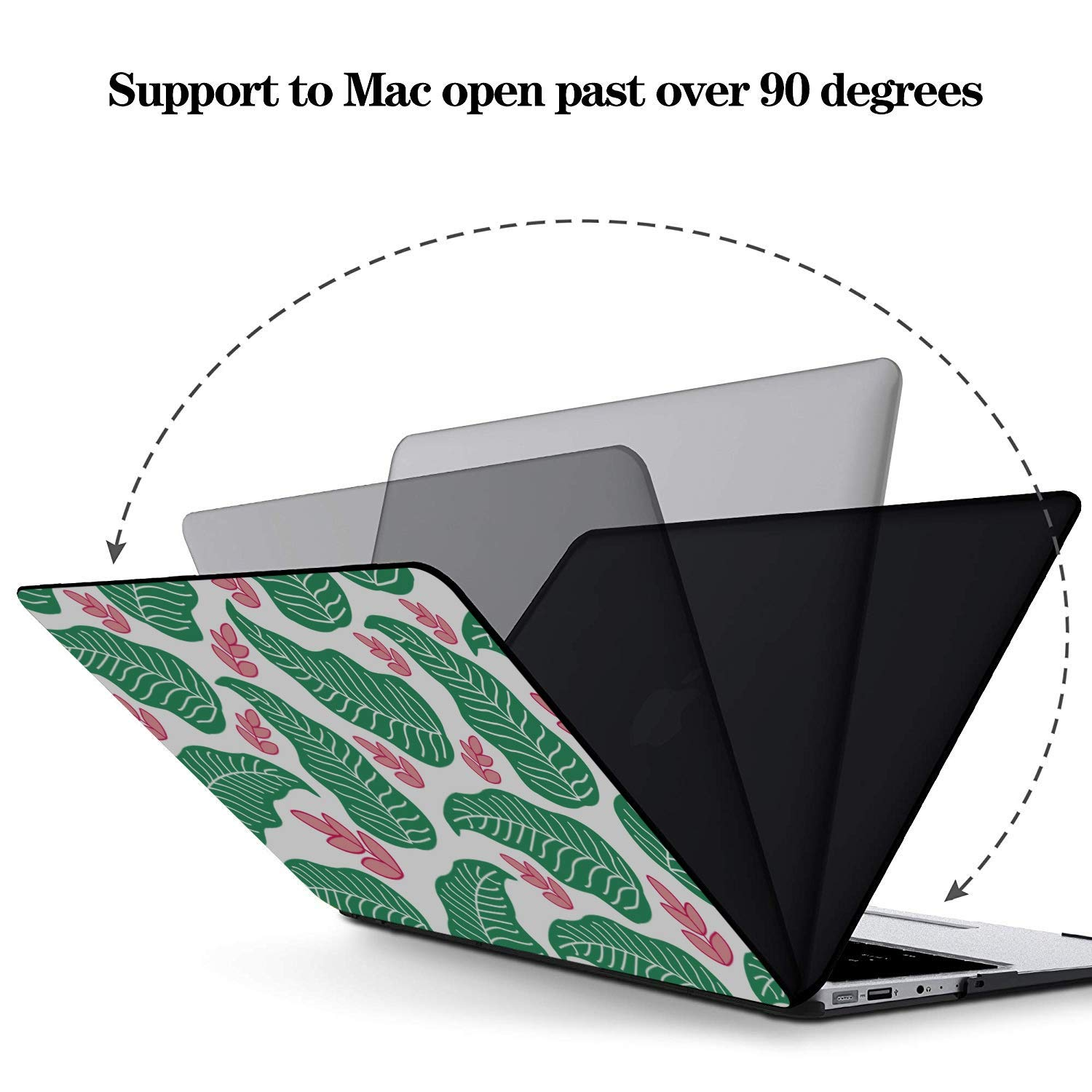 MacBook Pro Protector Summer Romantic Love Pear Cat Green Leaf Plastic Hard Shell Compatible Mac Air 11 Pro 13 15 2018 MacBook Pro Case Protection for MacBook 2016-2019 Version
