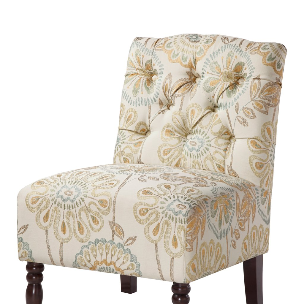 Amazon.com: Madison Park FPF18 0171 Lola Tufted Armless Chair, 22.375 X 27  X 32.875, Multicolor: Kitchen U0026 Dining