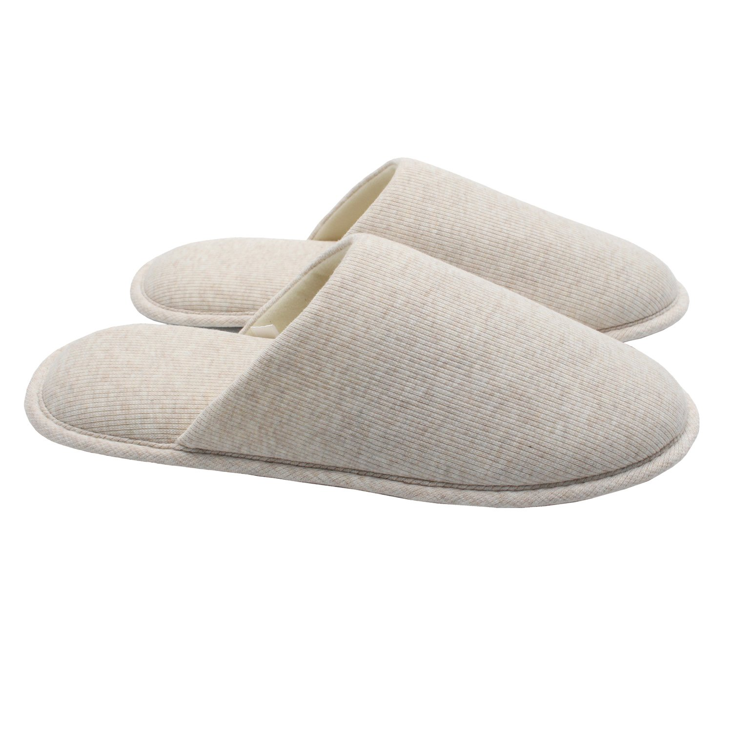 Ofoot Men's Cozy Cotton Thread Cloth House Slippers, Indoor / Outdoor Slip on Shoes