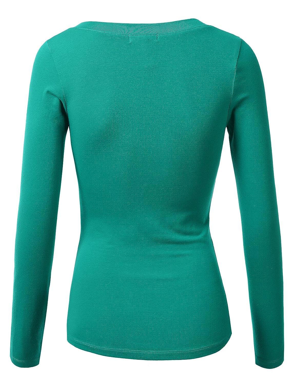09343184d97a2 Amazon.com  J.TOMSON Women s Plain Basic Long Sleeve Crew Neck T-Shirt   Clothing