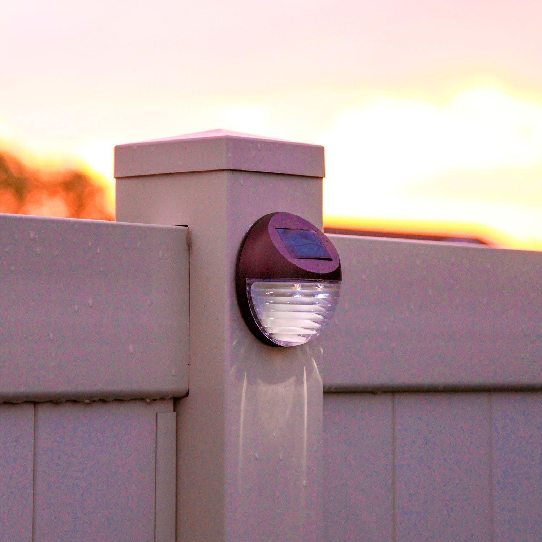 Solalux Set Of 12 Decorative Wireless Garden Solar Lights Weatherproof Outdoor  Fence Lamps   Second Gen Version: Amazon.co.uk: Lighting