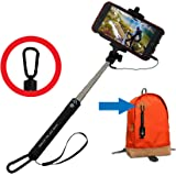 Ace of Slates Wired Selfie Stick with Carabiner for Smartphones