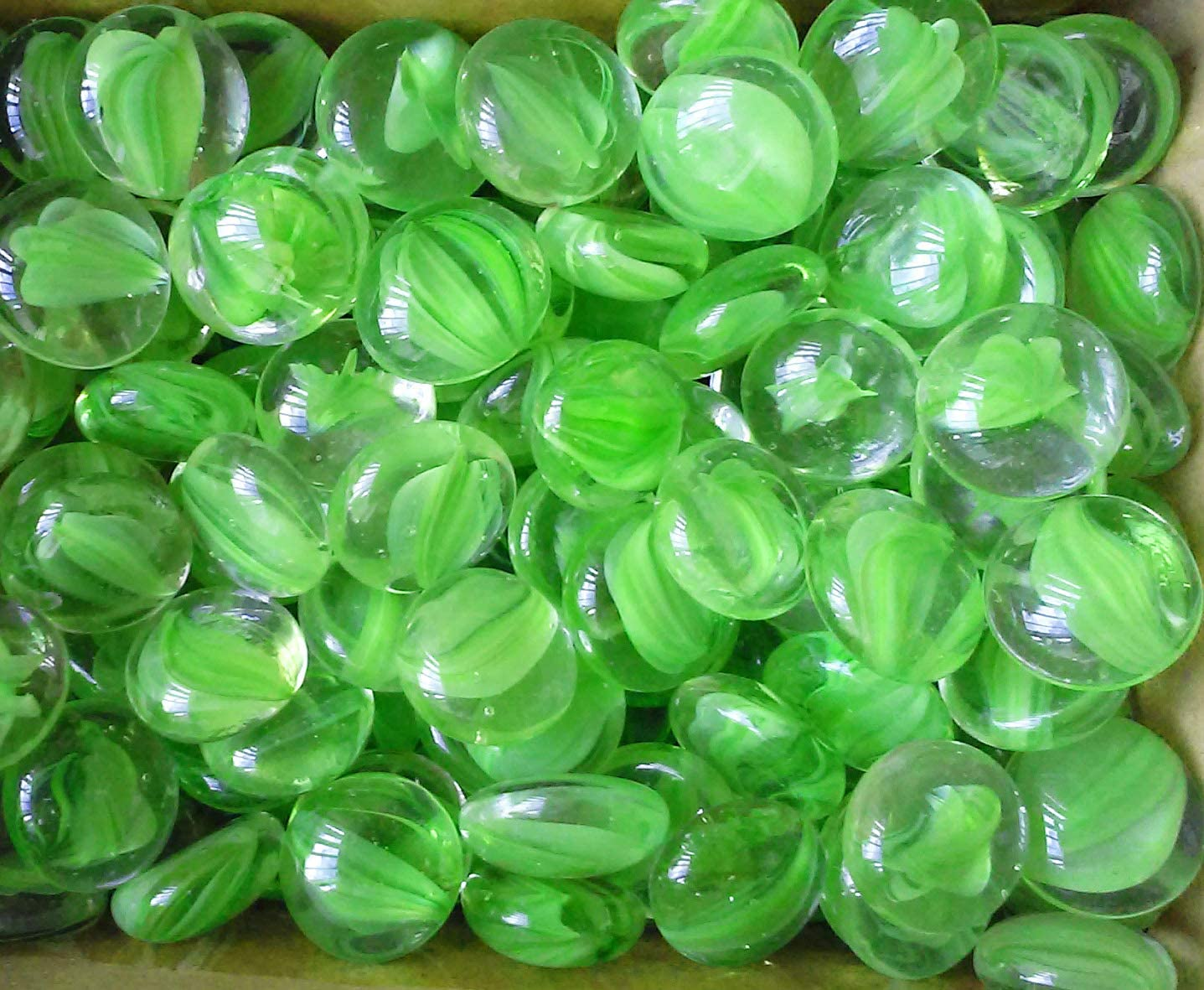 Creative Stuff Glass – Glass Gems – Vase Fillers 4 LB, Green Cat-Eye