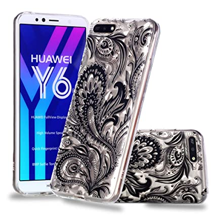 newest collection f4775 310a9 Amazon.com: MGVV Huawei Y6 2018 Case, Ultra Thin Anti-Drop Full ...
