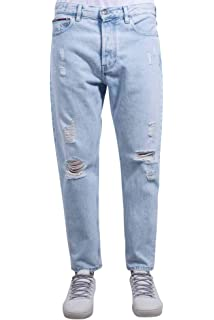7c479aa4dce6 Hilfiger Denim Men s Slim Jeans - Black - W31 L36  Amazon.co.uk ...