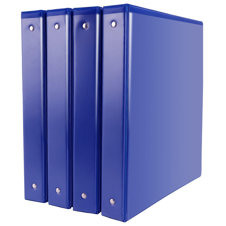 Binders, 1 inch Binders 3 Ring, Durable View Binder, Blue Binders, 4pcs/pack
