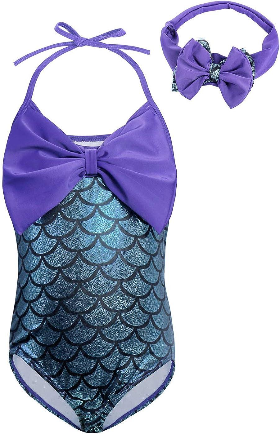 Jurebecia Traje de ba/ño de Sirena para ni/ñas Mermaid Bikini Conjunto Tankini