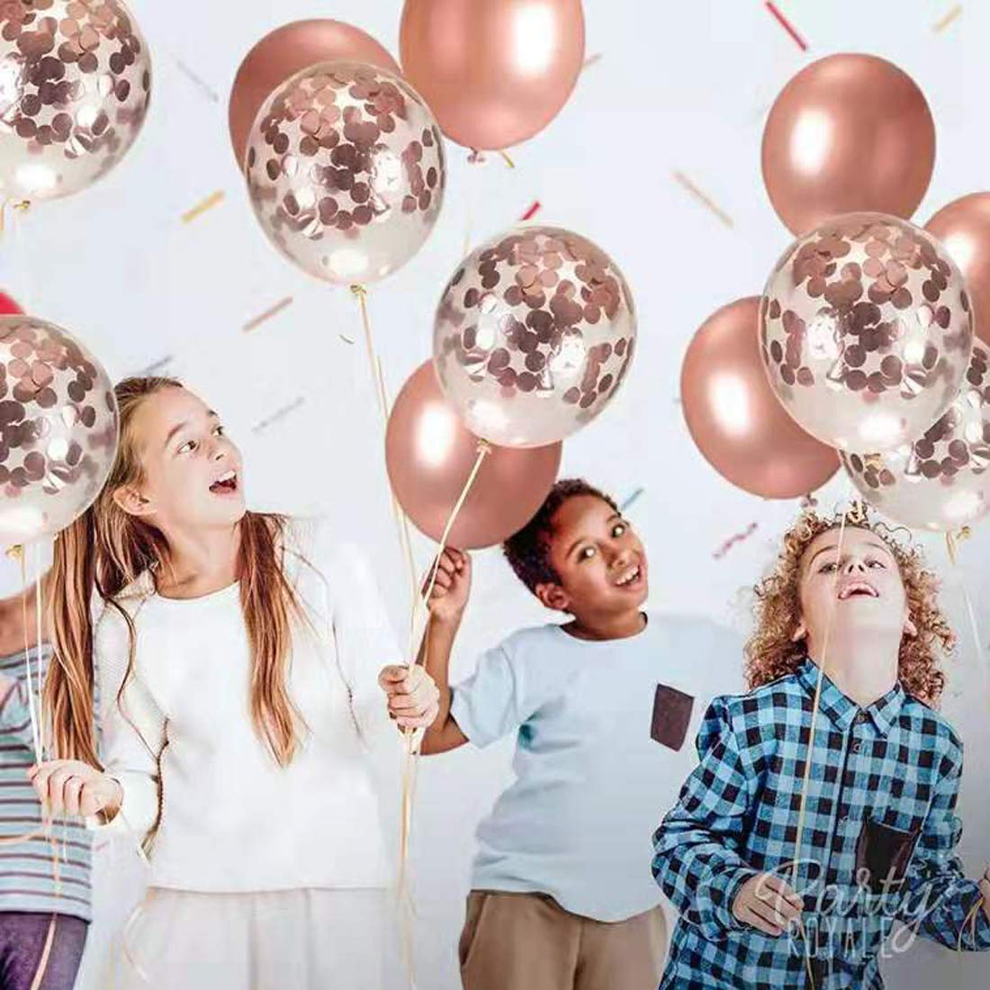 Set Contains 5 Gold Sequin Balloons and 5 Purple Chrome Balloons Purple Suitable for Birthday Wedding Parties Baby Shower Etc. SYNUO 10pcs12Sequined Metal Combination Latex Balloon