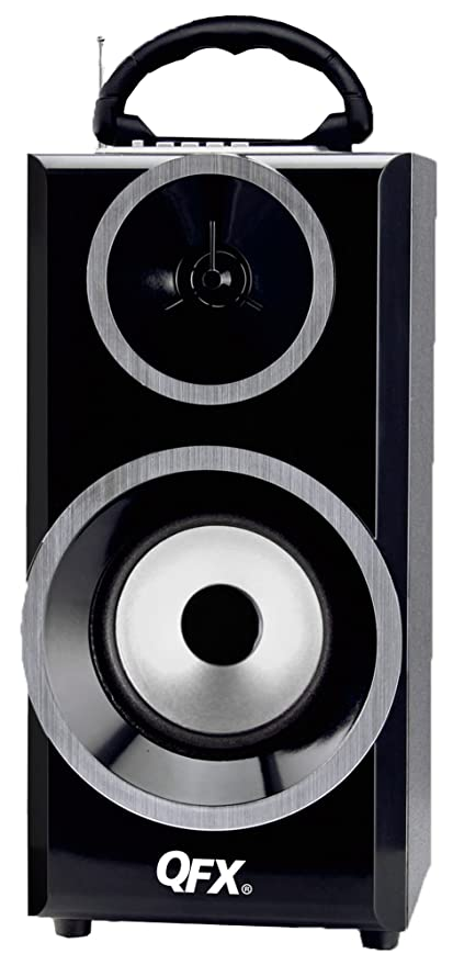 Amazon com: QFX CS-168 Multimedia Speaker with FM Radio