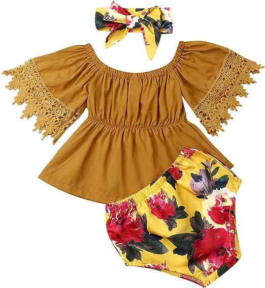 Amazon.com: Trajes cortos para bebés, niños pequeños, niña ...