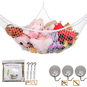 Nice Toy Soft Teddy Hammock Mesh Baby Child Bedroom Tidy Storage Nursery Net CL