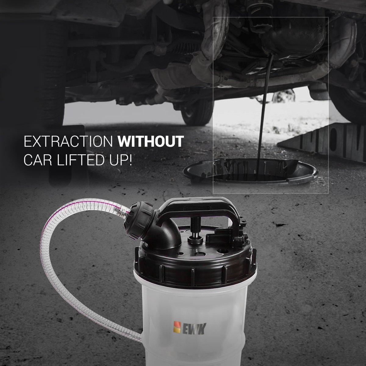 EWK 7.5 Liter Manual Oil Pump Extractor Fluid Evacuator For DIY Oil Change by EWK (Image #6)