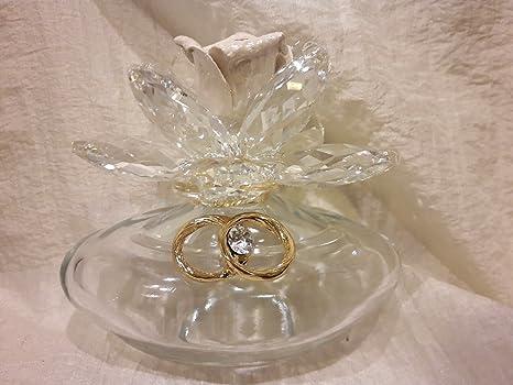 Bomboniere In Cristallo Per Matrimonio.Bomboniere Matrimonio Nozze Oro Fedi 50 Dorate Profumatore