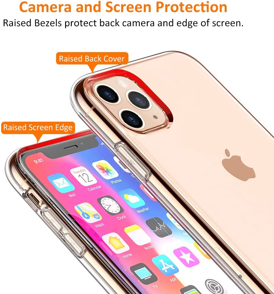 STOON for iPhone 11 Pro Case 5.8 inch 2019 Anti-Scratch Shock-Absorption Crystal Clear Phone Cover Case for iPhone 11 Pro