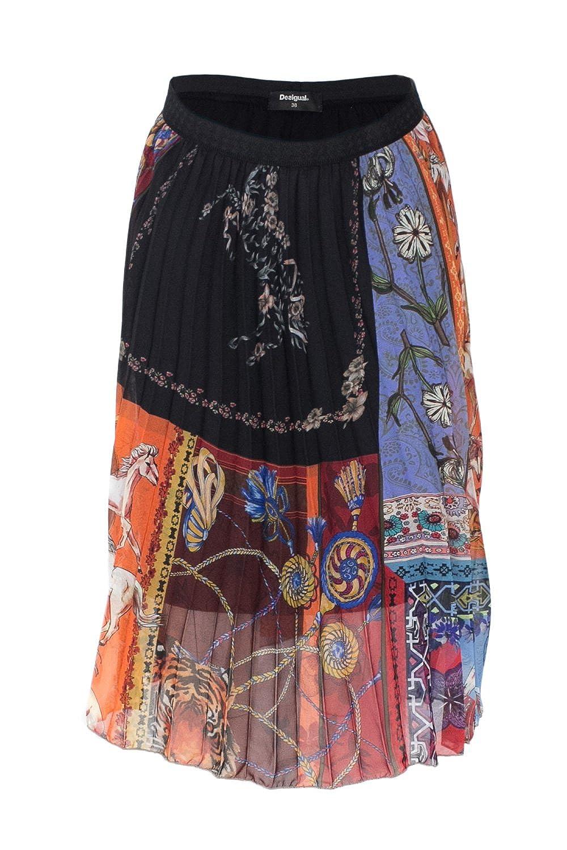 Desigual Falda Mujer Negro: Amazon.es: Ropa y accesorios