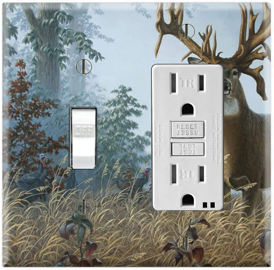 Graphics Wallplates Whitetail Buck Deer Forest Toggle Rocker Gfci Combo Wall Plate Cover Amazon Com