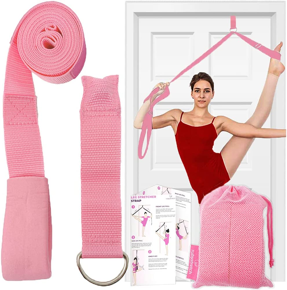 Leg Stretcher Strap – Adjustable Ballet Stretch Strap with Door Anchor to Improve Flexibility, Easy to Install Split Trainer Stretching Equipment for Ballet, Dance, Yoga, Gymnastics or Cheer : Sports & Outdoors