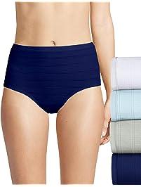 Hanes Womens Comfort Flex Fit 4 Pack Brief Panties Briefs