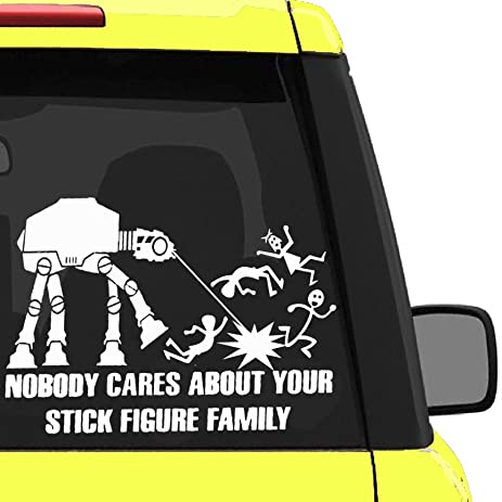 Amazoncom NOBODY CARES ABOUT YOUR STICK FIGURE FAMILY Your - Vinyl decals for your caramazoncom your stick family was delicious trex vinyl decal