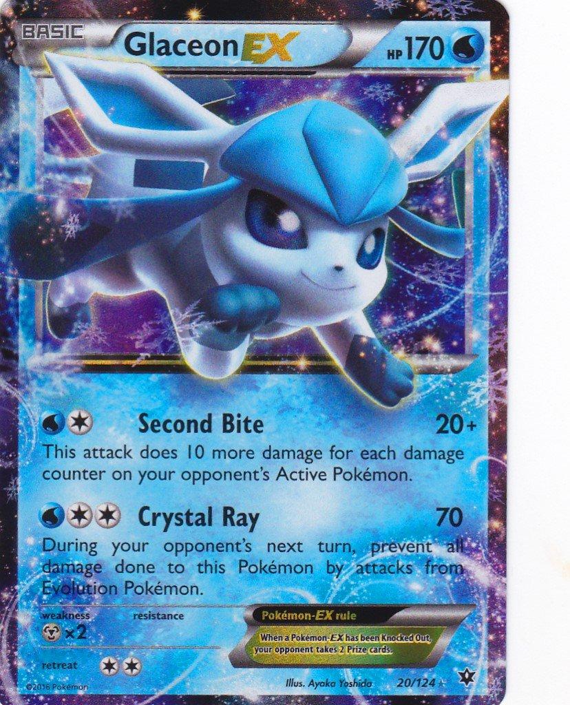 Pokémon - Tarjeta única - GLACEON EX#20/124 XY Fates Collide ...