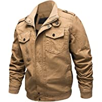 73f537bb98 Dwar Men s Casual Long Sleeve Full Zip Fashion Outdoor Jacket with Shoulder  Straps