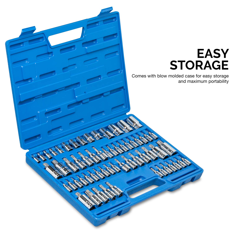 Neiko 10083A Master Torx Bit Socket and External Torx Socket Set | 60-Piece Set | S2 and Cr-V Steel by Neiko (Image #4)