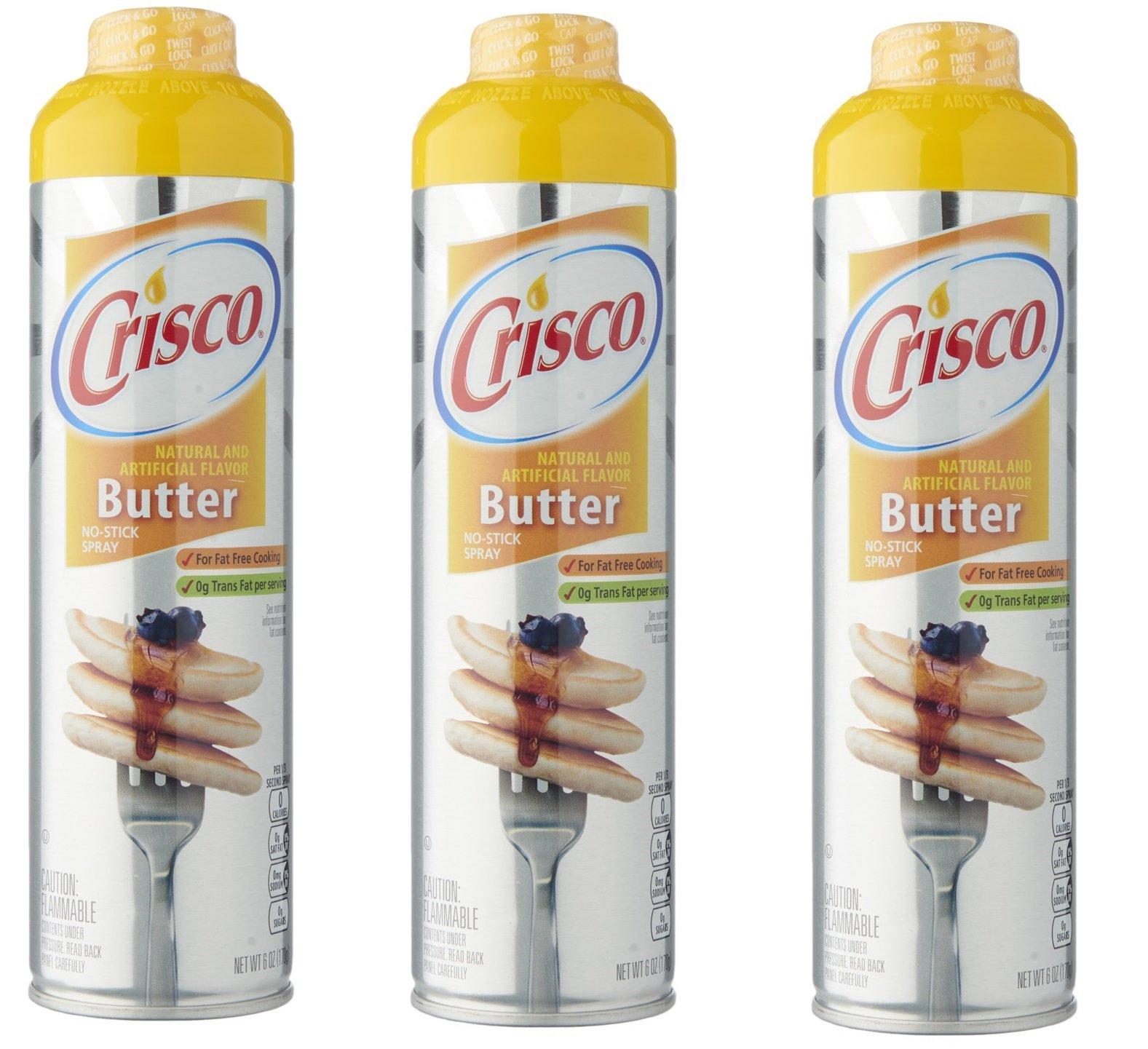 Crisco Butter Flavor Non Stick Cooking Spray- 3 Pack