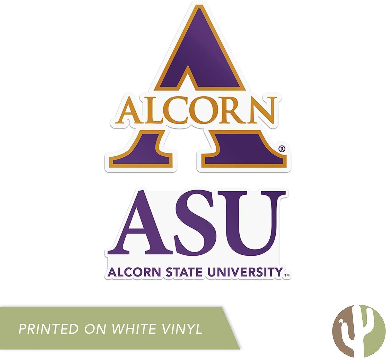 4 Inch Set Alcorn State University Sticker Vinyl Decal Laptop Water Bottle Car Scrapbook