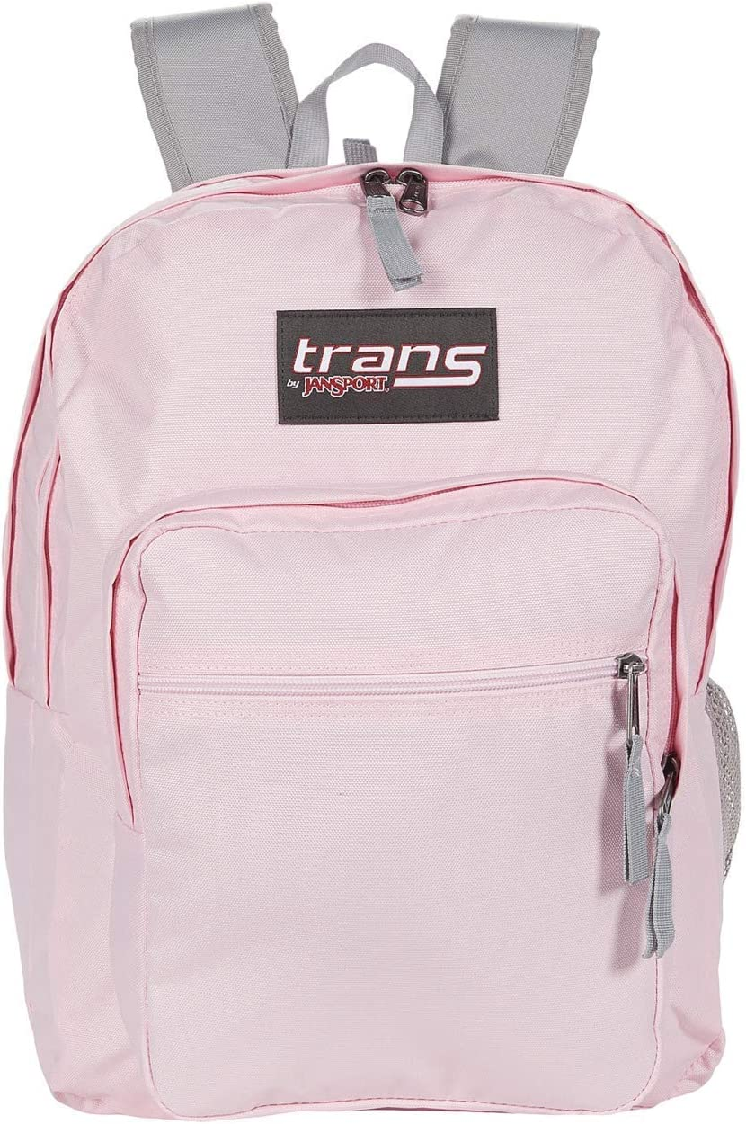 "Trans by JanSport 17"" SuperMax Backpack with 15"" Laptop Sleeve (Pink Mist)"