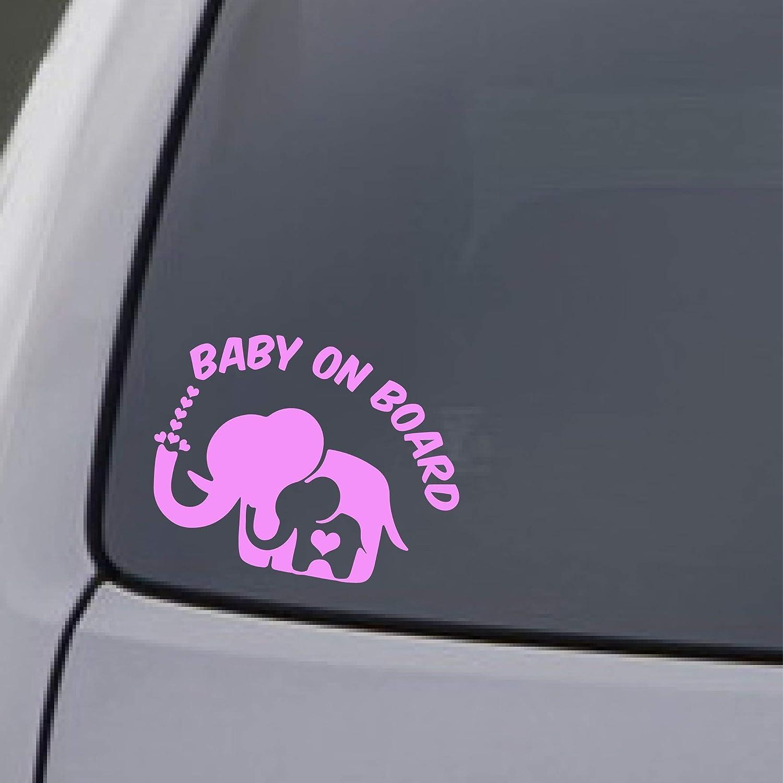 Baby On Board Pink Car Sticker Window Decal Vinyl Waterproof