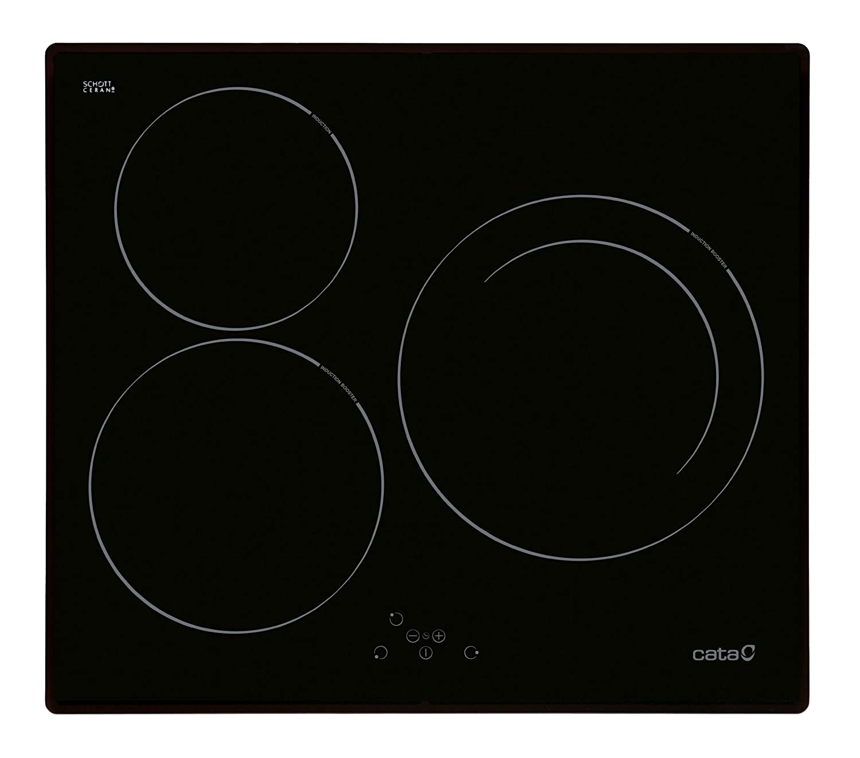 CATA I 603 B - Placa Vitrocerámica Ib603Bk Con 3 Zonas De ...