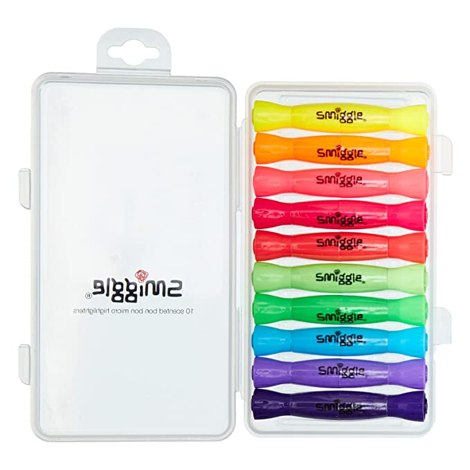Marcadores fluorescentes aromáticos con forma de caramelo de Smiggle, paquete de 10 unidades: Amazon.es: Oficina y papelería