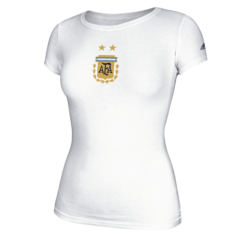 International Soccer Women 's Team CrestキャップスリーブTシャツ B01GJNE3YK  アルゼンチン代表 Large