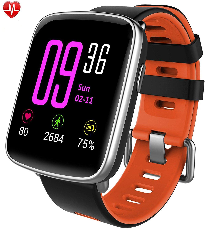 Willful Reloj inteligente con Pulsómetro, Impermeable IP68 reloj deportiva Inteligente,...