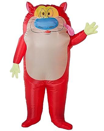 Spirit Halloween Adult Stimpy Inflatable Costume - The Ren u0026 Stimpy Show  sc 1 st  Amazon.com & Amazon.com: Spirit Halloween Adult Stimpy Inflatable Costume - The ...